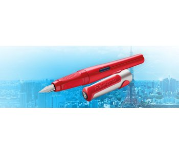 PELIKAN P481L PELIKANO SCHOOL FOUNTAIN PEN RED M