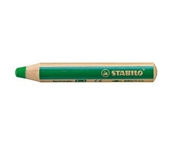 STABILO WOODY 3 IN 1 PENCIL 533 DARK GREEN