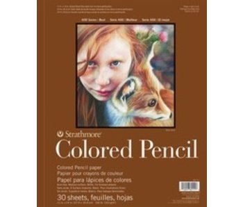 STRATHMORE COLORED PENCIL PAD WB 6x8 30 SHEETS