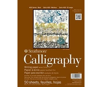 STRATHMORE CALLIGRAPHY PAD 8.5X11 50 SHEETS
