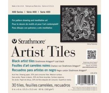 STRATHMORE ARTIST TILES BLACK ARTIST TILES 6x6