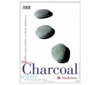 STRATHMORE WHITE CHARCOAL PAD 9x12