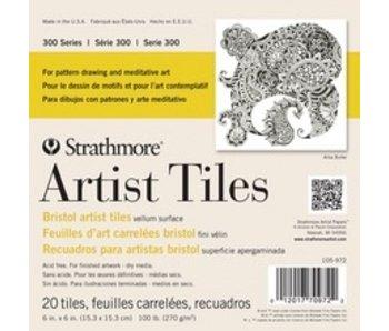 STRATHMORE ARTIST TILES BRISTOL 6x6 20PK