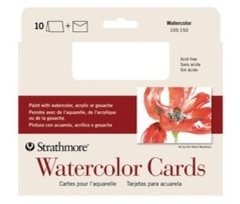 STRATHMORE WATERCOLOR CARDS 140LB 10PK