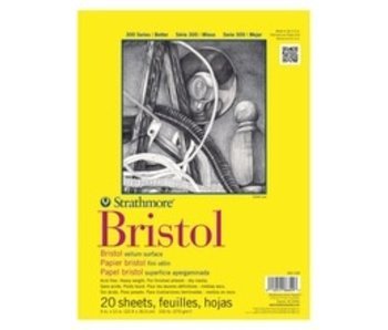 STRATHMORE BRISTOL 9x12 SMOOTH 20 SHEETS