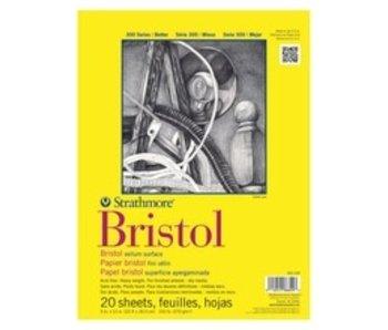 STRATHMORE BRISTOL VELLUM PAD 9x12 20 SHEETS