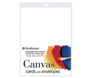 STRATHMORE CANVAS CARDS 10PK