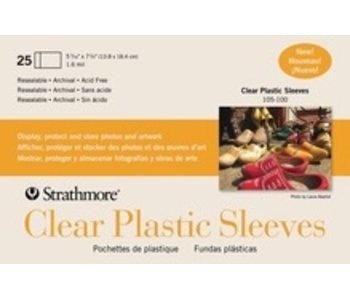 STRATHMORE CLEAR PLASTIC SLEEVES 25PK