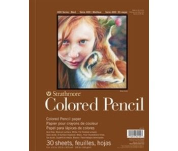 STRATHMORE COLORED PENCIL PAD WB 9x12 30 SHEETS