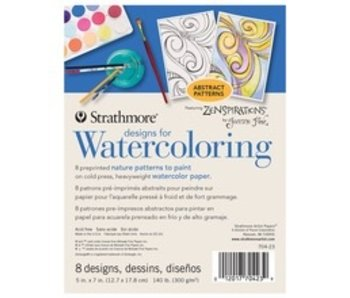 STRATHMORE READY TO PAINT DESIGNS FOR WATERCOLOUR ABSTRACT
