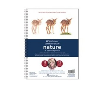 STRATHMORE LEARN TO DRAW NATURE COLORED PENCIL PAD 9x12