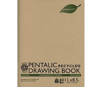 PENTALIC RECYCLED DRAWING BOOK 8.5x11