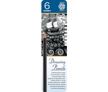 PENTALIC DRAWING PENCILS 6PK
