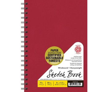 PENTALIC SKETCH BOOK 5.5x8 RED