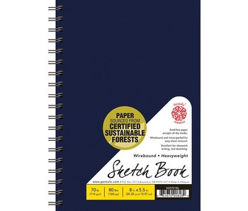 PENTALIC SKETCH BOOK 5.5x8 BLUE