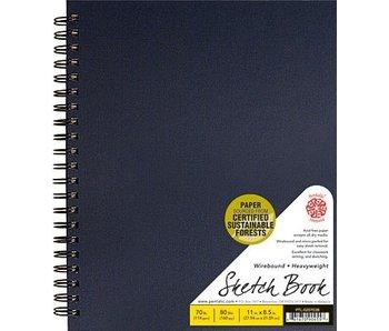 PENTALIC SKETCH BOOK 8.5x11 BLACK