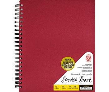 PENTALIC SKETCH BOOK 8.5x11 RED