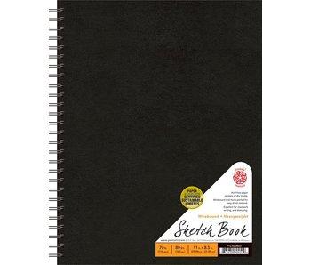 PENTALIC SKETCH BOOK 8.5x11 WB BLACK