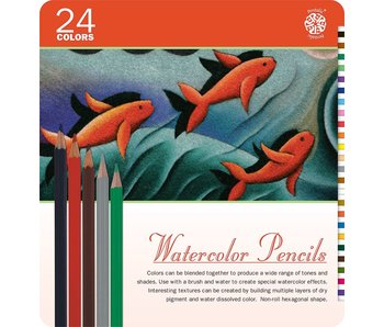 PENTALIC WATERCOLOUR PENCILS 24PK