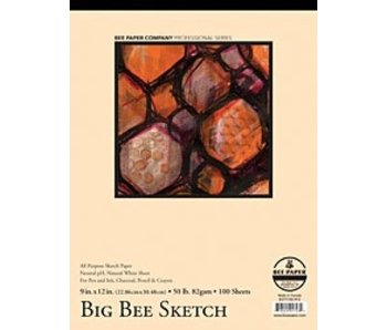 BEE PAPER BIG SKETCH PAD 18x24 125 SHEETS