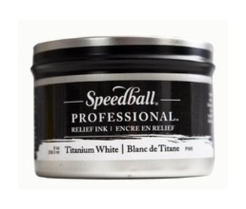 SPEEDBALL PROFESSIONAL RELIEF PRINTING INK 8OZ TITANIUM WHITE