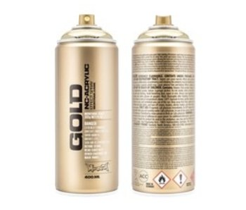 MONTANA GOLD SPRAY PAINT 400ML CHROME GOLD