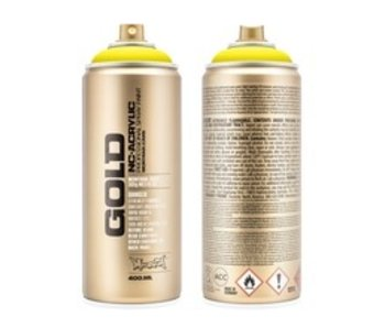 MONTANA GOLD SPRAY PAINT 400ML 100% YELLOW