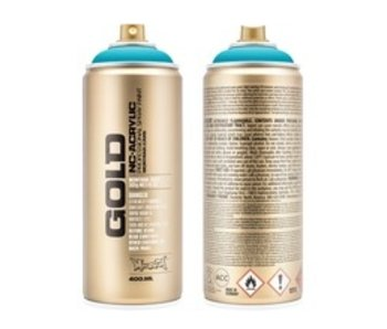 MONTANA GOLD SPRAY PAINT 400ML 100% PURE CYAN