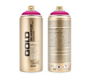 MONTANA GOLD SPRAY PAINT 400ML 100% MAGENTA