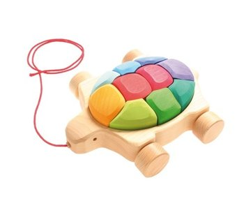 GRIMM'S SPIEL UND HOLZ PULL ALONG AND BUILD TURTLE