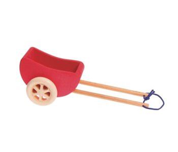 GRIMM'S SPIEL UND HOLZ WAGON SMALL RED THAT FITS HORSE #4048565130004