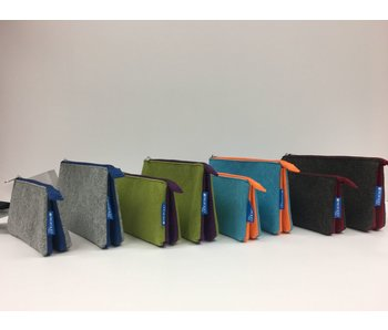 ITOYA PROFOLIO MIDTOWN POUCH 5X9 GREEN/PURPLE