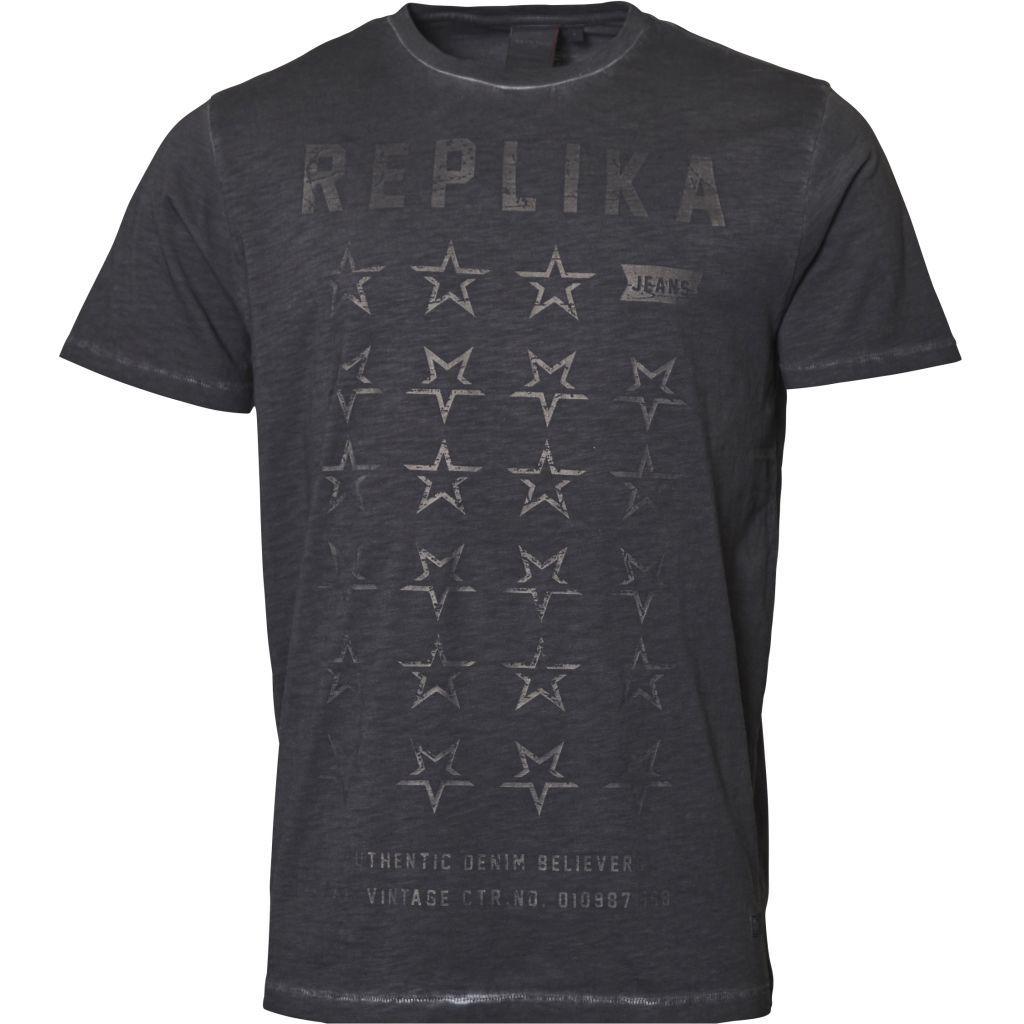 Replika Jeans Replika Jeans Faded printed  T-Shirt