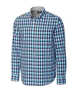 Cutter & Buck CB L/S NON-IRON SAWYER PLAID
