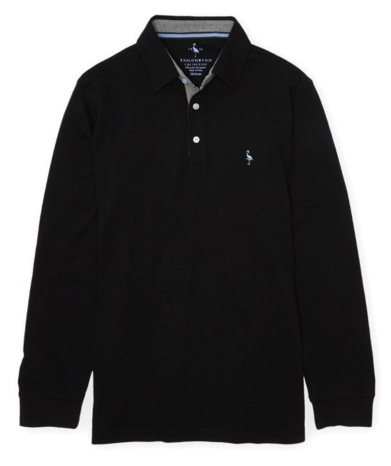 TAILORBYRD TAILORBYRD L/S  TWO TONE POLO