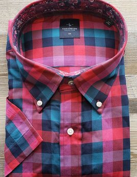 TAILORBYRD TAILORBYRD RED AND GREEN PLAID S/S