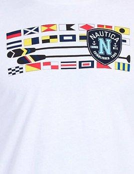 NAUTICA NAUTICA FLAGS + OARS CREWNECH T-SHIRT