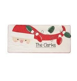 MUD PIE SANTA PERSONALIZED TRAY