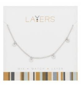 LAYERS SILVER NECKLACE $19.99 OR 2/$30