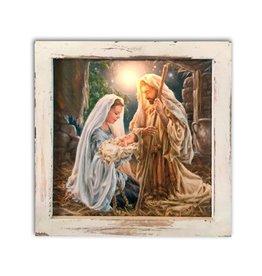 GLOW DECOR GLORY TO GOD 8X8 LIGHTED CANVAS SHADOW BOX