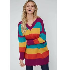 WIDE STRIPE KNIT TUNIC