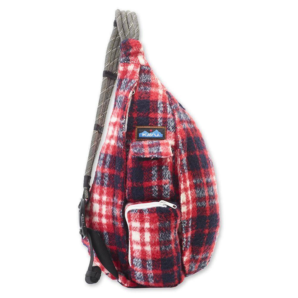 Kavu Plaid Rope Bag-Americana