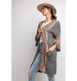 WIDE SLV BOHO CARDIGAN