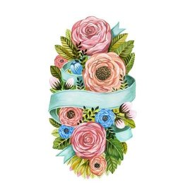 HESTER AND COOK SPRING FLORAL PAPER TABLE ACCENT