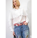 KIRSTEN BUTTON DOWN RUFFLE BLOUSE