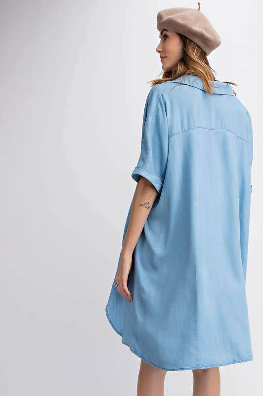 OVERSIZED LT DENIM DRESS