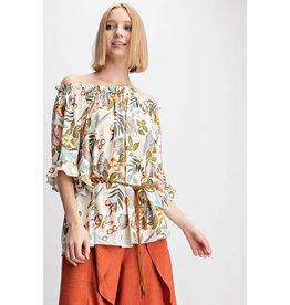 42a8929f2a PRINTED TUBE TOP WIDE LEG JUMPSUIT.  39.99. PRINTED OFF THE SHOULDER BLOUSE