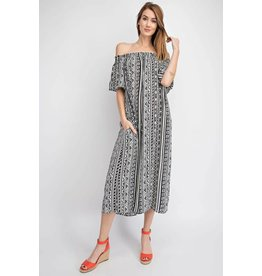b727b31db3d TRIBAL PRINT OFF SHOULDER WIDE LEG JUMPSUIT