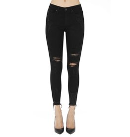 KANCAN BLACK DISTRESSED JEANS KC5056BK