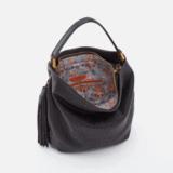 HOBO MERIDIAN SHOULDER BAG VELVET HIDE BLACK